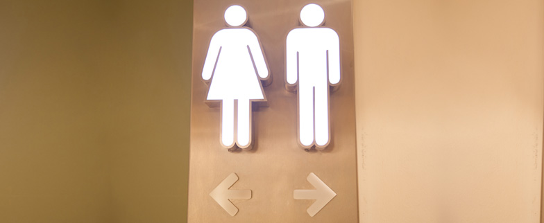 Male and female bathroom icons