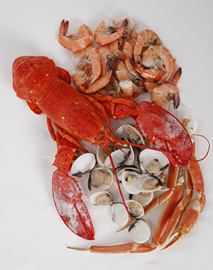 Foods containing shellfish.