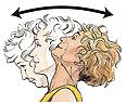 Backward and forward neck exercise