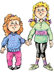 Image of a girl with knock knees and a girl with bowlegs