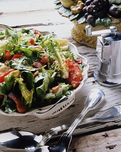 Salad on table