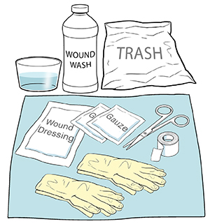 Wound care supplies.