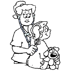 Surgery coloring sheet for kids before surgery saint for Stethoscope coloring page