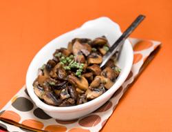 Bronzed mushrooms