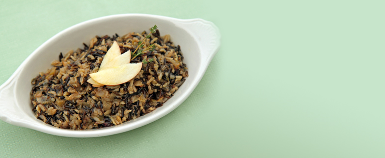 Fruity Wild Rice in a serving platter