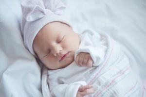 Baby girl sleeping.